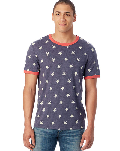 Men's Star Eco-Jersey Ringer T-Shirt. Alternative - Konosh