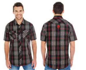 Men's Short-Sleeve Plaid Pattern Woven - Konosh
