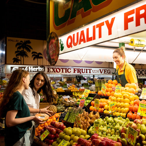 Shopping at Adelaide Central Market