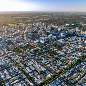 Aerial photo of Adelaide CBD