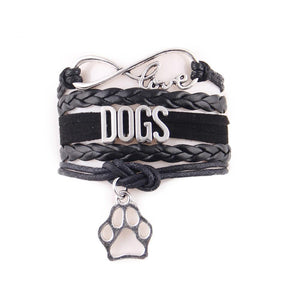 Dog Love Infinity Paw Bracelet