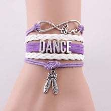 Dance Love Infinity Shoes Bracelet