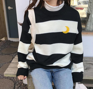 Candy Moon Stripes Sweatshirt