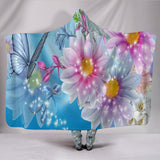 Custom Printed Fairy Hooded Blanket with vivid colors - keewees3.com