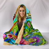 Butterflies Hooded Blanket that not only keeps you warm but is stunning to look at - keewees3.com