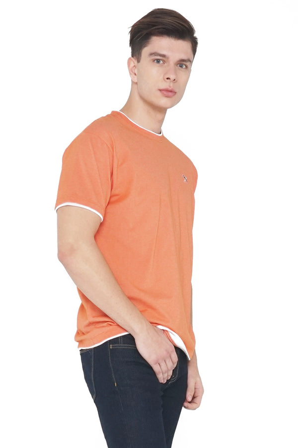 Relaxed Fit Tee With Twofer Detail