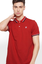 Polo Pique With Contrast Trim
