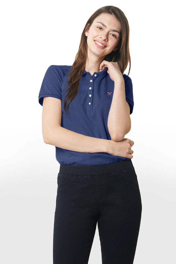 Heather Polo Pique
