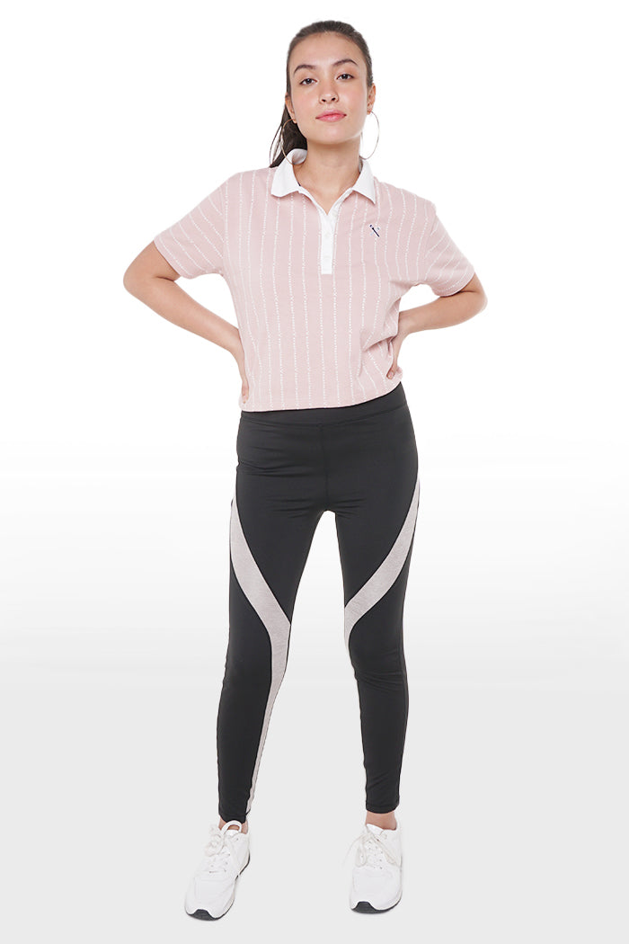High Waist Trousers With Elastic Waistband