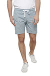 Striped Chino Shorts With Zipper Fly