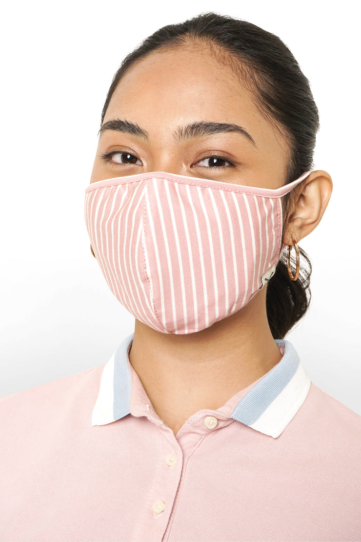 Slim Polo with Face Mask & Scrunchie Set