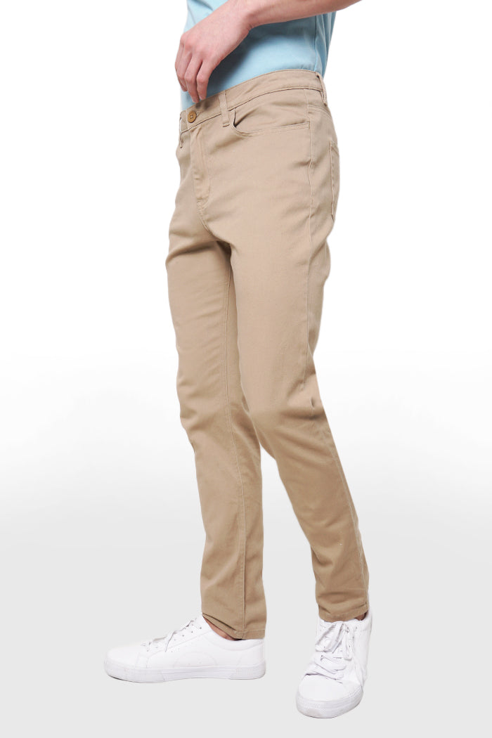Mid Rise 5-Pocket Jeans With Zipper Fly