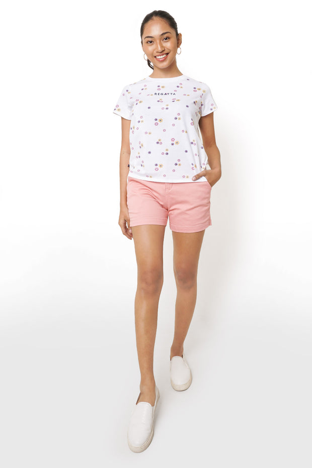 Regatta Logo All-Over Print Tee with Face Mask Set