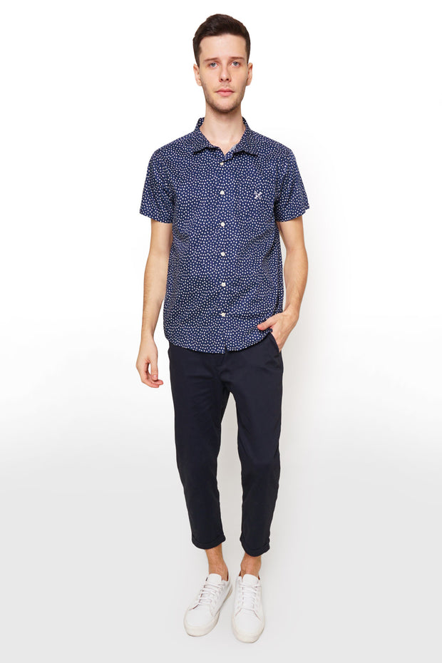 Poplin Shirt with All-over Print