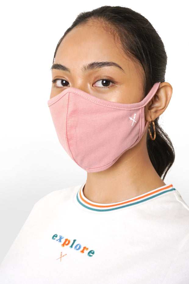 Explore Graphic Tee with Face Mask Set