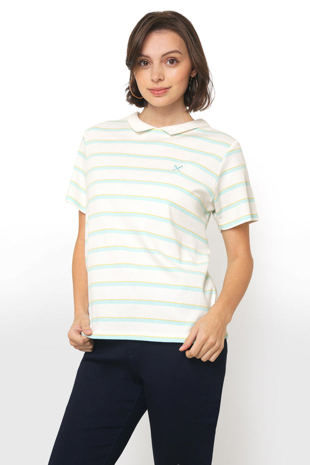 Stripe Rib Polo