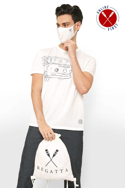 Real Good Tees Set - Round Neck Tee, Drawstring Bag, and Facemask