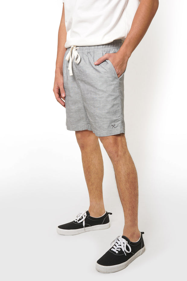 Textured Drawstring Deck Shorts