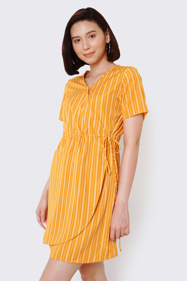 Stripe Wrap Dress