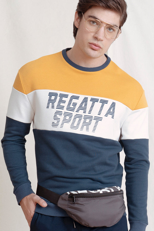 Regular Fit Tee With Color-Block Accent