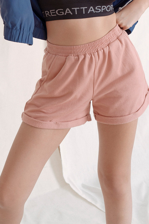 Mid Waist Knit Shorts