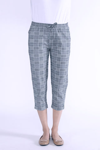 Mid Rise Trousers With Drawstring