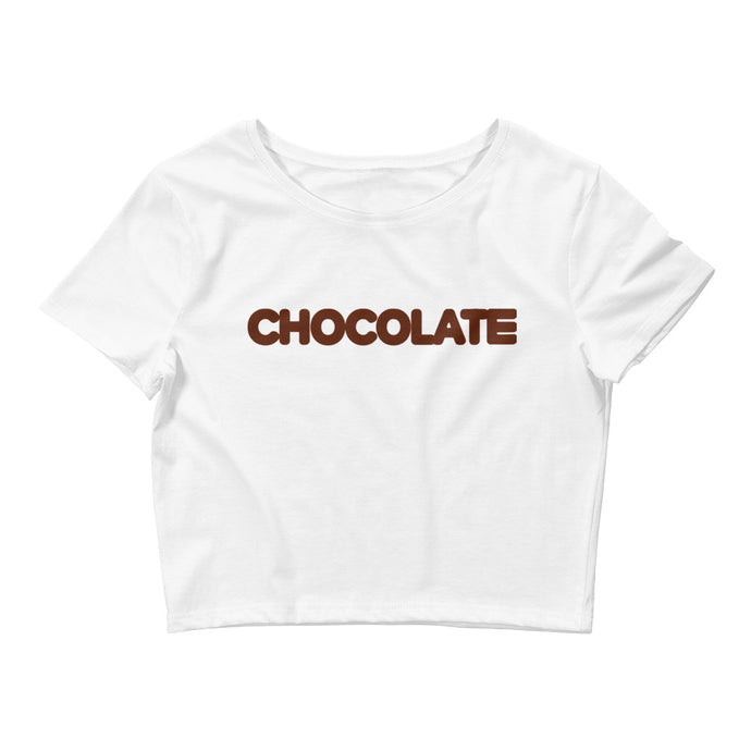 WOMENS CHOCOLATE CROP TEE