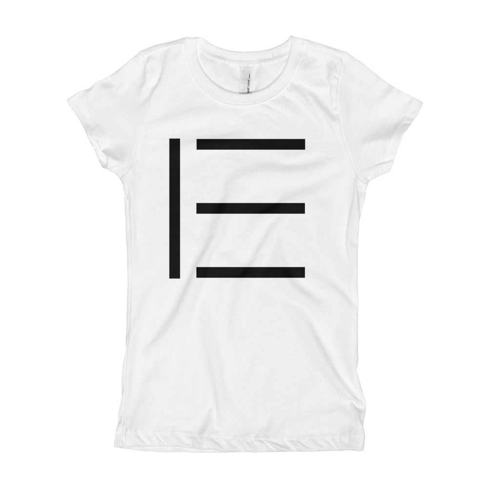 E SIGNATURE GIRLS LOGO TEE