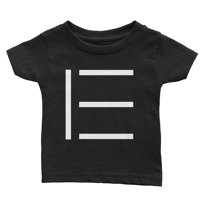 E SIGNATURE INFANT LOGO TEE BLACK