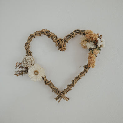 Dried Heart Wreath