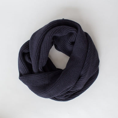 Knitty Scarf Navy