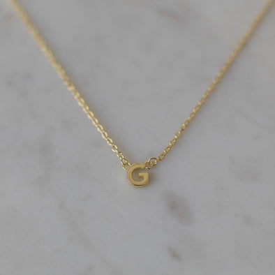 Little Letter Necklace Gold