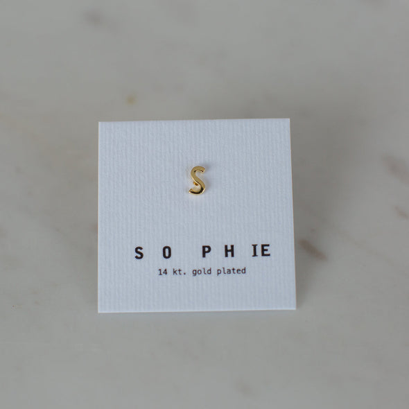 Little Letter Stud Gold