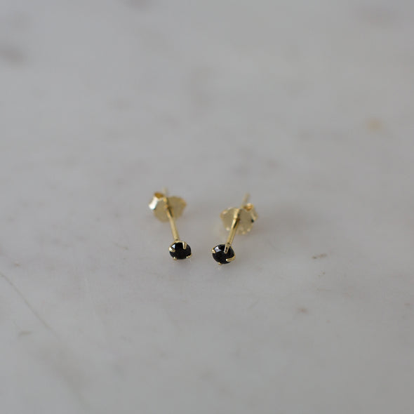 Mini Rock Studs Black