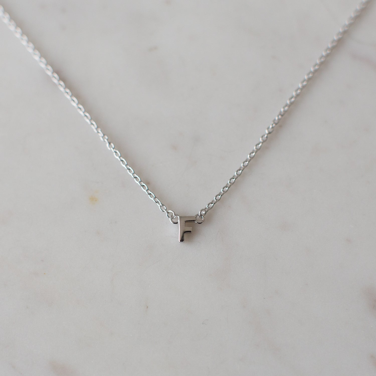 eaa0856de140 Little Letter Necklace Silver – S O P H IE