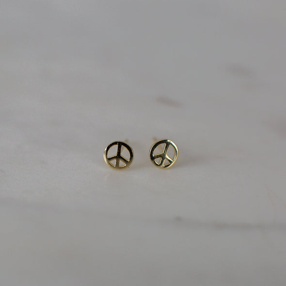 Peace Studs Gold