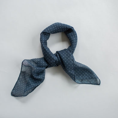 Spots Mini Scarf Navy