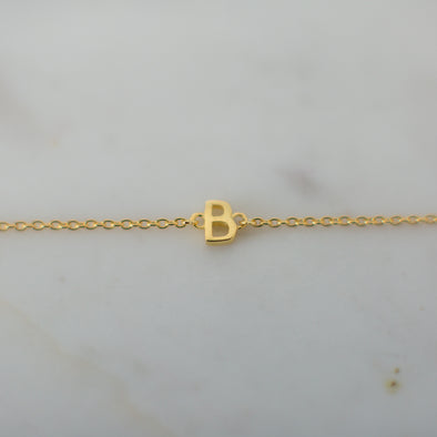 Little Letter Bracelet Gold