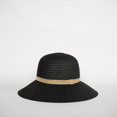 SO SHADY VELVET HAT BLACK W. HONEY