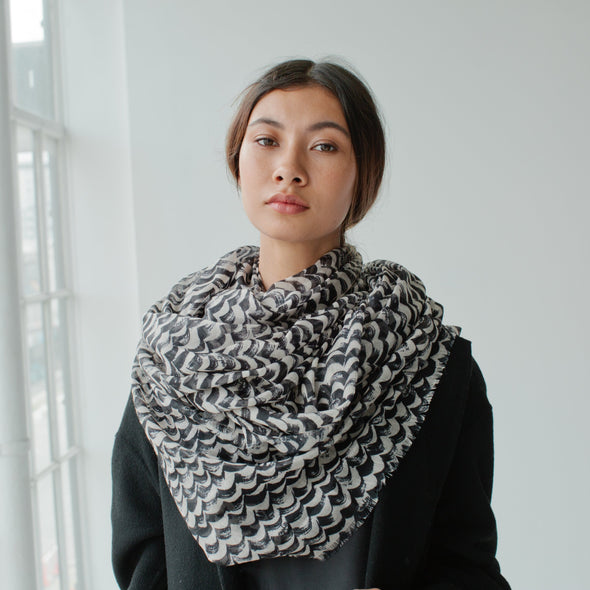 Waves Maxi Scarf Sand