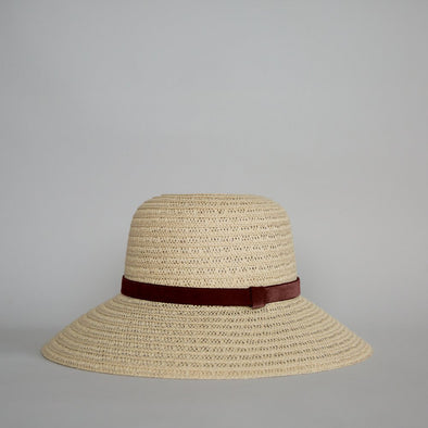 So Shady Velvet Hat Ivory w. Cinnamon