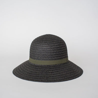 So Shady Ribbon Hat Black w. Olive