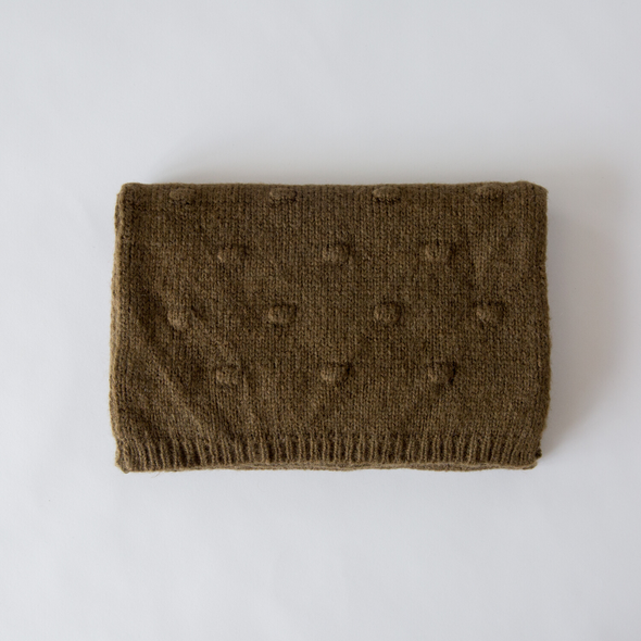 Bobble Knit Scarf Khaki