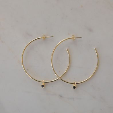 Mini Rock Hoops Black