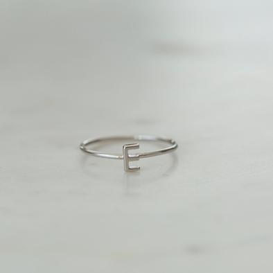 Little Letter Ring Silver