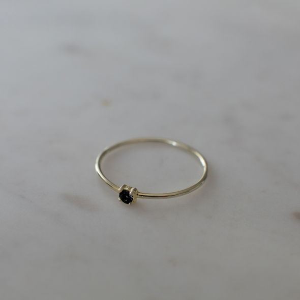Mini Rock Ring Black