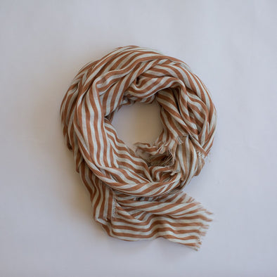 Stripes Maxi Scarf Toffee
