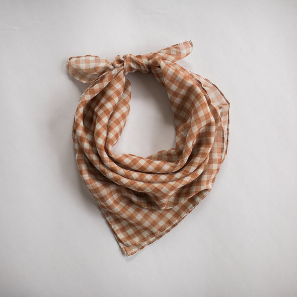 Gingham Mini Scarf Toffee