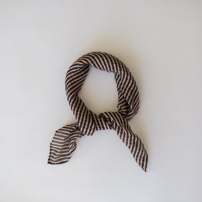 Stripes Mini Scarf Camel Black