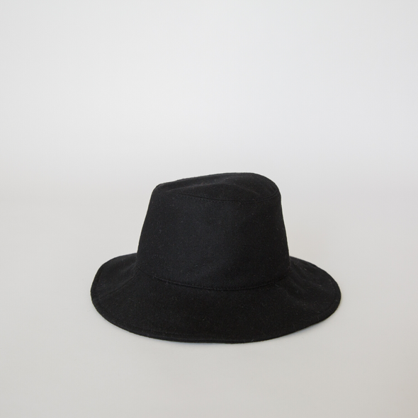 Wool Bucket Hat Black